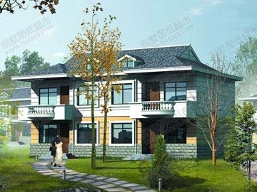 二层双拼别墅建筑施工图_别墅设计图纸,农村房屋设计图,农村自建房图片